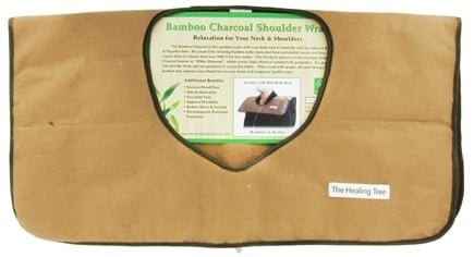 "The Healing Tree - Bamboo Charcoal Shoulder Wrap Fits All Size 19"" X 20"""