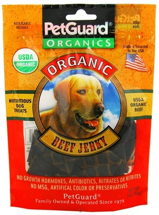DROPPED: Pet Guard - Organic Beef Jerky For Dogs - 3 oz. CLEARANCE PRICED