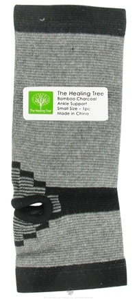 "DROPPED: The Healing Tree - Bamboo Charcoal Ankle Support Small Size 3.5"" x 9"" - CLEARANCE PRICED"