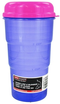 DROPPED: Turbo Shaker - Purple Shaker with Pink Lid - 24 oz. CLEARANCE PRICED