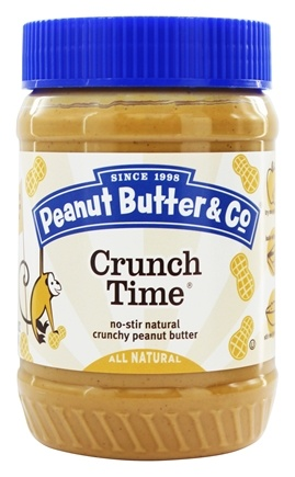 Peanut Butter & Co. - Crunch Time Natural Peanut Butter with Great Big Pieces of Chopped Peanuts - 16 oz. LUCKY PRICE