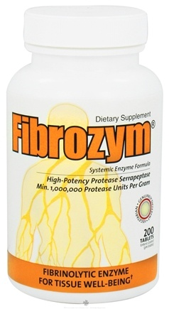 DROPPED: Naturally Vitamins - Fibrozym - 200 Tablets