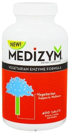 DROPPED: Naturally Vitamins - Medizym Vegetarian Enzyme Formula - 400 Tablets CLEARANCE PRICED