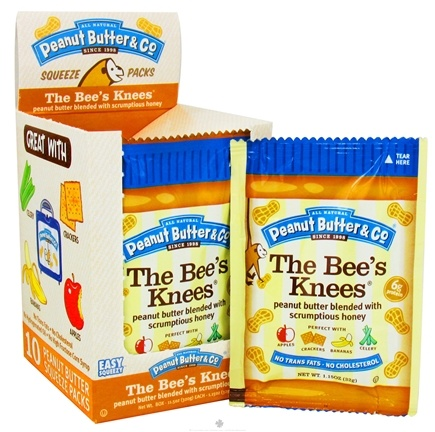 DROPPED: Peanut Butter & Co. - The Bees's Knees Squeeze Pack Peanut Butter Blended with Scrumptious Honey - 1.15 oz.