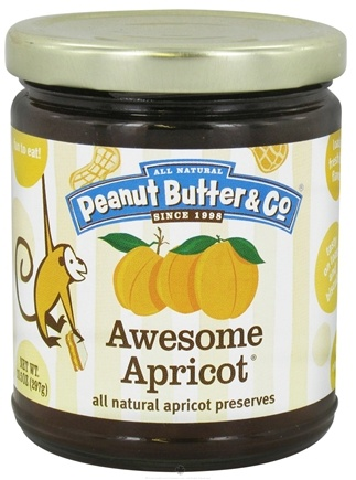DROPPED: Peanut Butter & Co. - Awesome Apricot All Natural Apricot Preserves - 10.5 oz. CLEARANCE PRICED