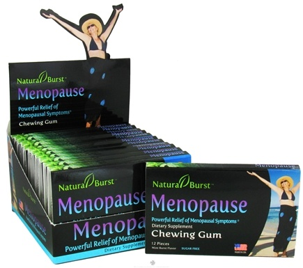 DROPPED: Neutralean - Menopause Sugarless Gum Natural Relief of Menopausal Symptoms Mint Burst Flavor - 12 Piece(s) CLEARANCE PRICED (Formerly Natural Burst)