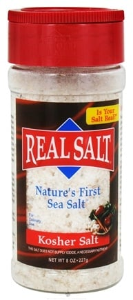 DROPPED: Real Salt - Nature's First Sea Salt Shaker Kosher Salt - 8 oz. CLEARANCE PRICED