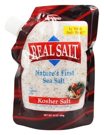 Real Salt - Nature's First Sea Salt Kosher Salt - 16 oz.