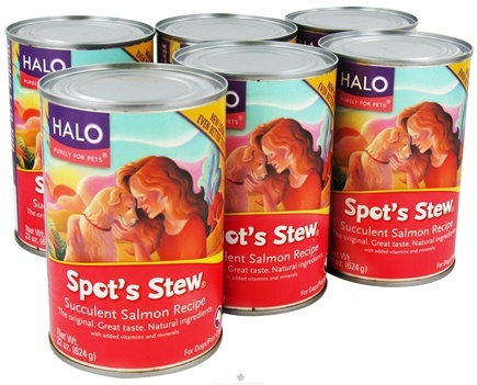 DROPPED: Halo Purely for Pets - Spot's Stew For Dogs 22 oz. Succulent Salmon Recipe - 6 Can(s) CLEARANCE PRICED