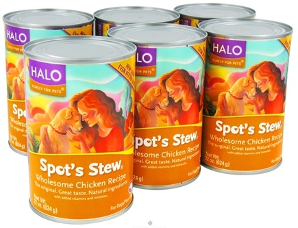 DROPPED: Halo Purely for Pets - Spot's Stew For Dogs 22 oz. Wholesome Chicken Recipe - 6 Can(s) CLEARANCE PRICED
