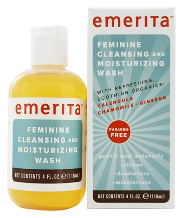 Emerita - Feminine Hygiene Cleansing & Moisturizing Wash with Refreshing Soothing Organics - 4 oz.