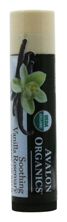 Avalon Organics - Organic Lip Balm Soothing Vanilla Rosemary - 0.15 oz.