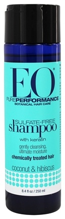 EO Products - Shampoo Sulfate Free with Keratin Coconut & Hibiscus - 8.4 oz.