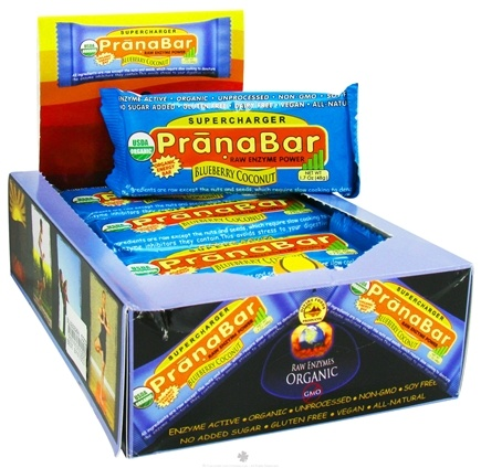 DROPPED: Prana Bars - Supercharger Antioxidant Organic Energy Bar Blueberry Coconut - 1.6 oz.