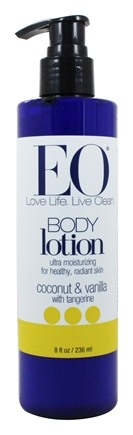 EO Products - Body Lotion Ultra Moisturizing Coconut & Vanilla with Tangerine - 8 oz.