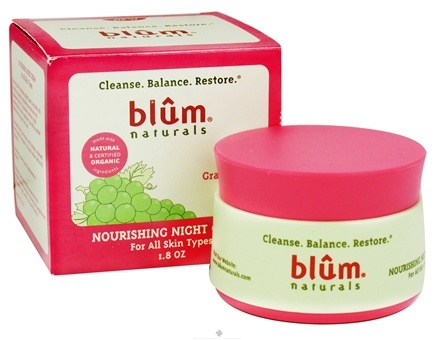 DROPPED: Blum Naturals - Nourishing Night Cream For All Skin Types - 1.8 oz.