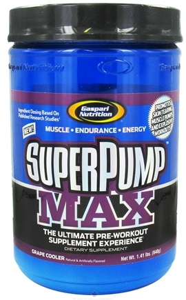 DROPPED: Gaspari Nutrition - SuperPump MAX Pre-Workout Formula Grape Cooler - 1.41 lbs. CLEARANCE PRICED
