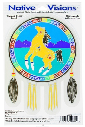 DROPPED: Native Visions - Window Transparencies Horse - CLEARANCE PRICED