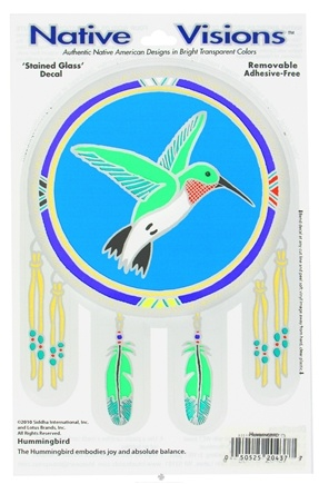 DROPPED: Native Visions - Window Transparencies Hummingbird - CLEARANCE PRICED