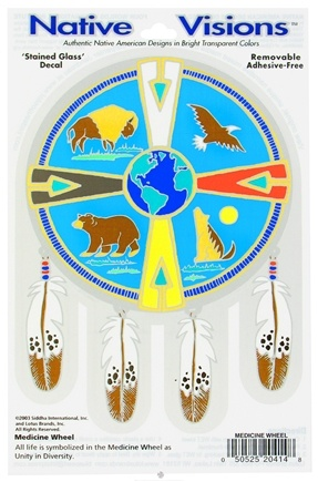 DROPPED: Native Visions - Window Transparencies Medicine Wheel - CLEARANCE PRICED