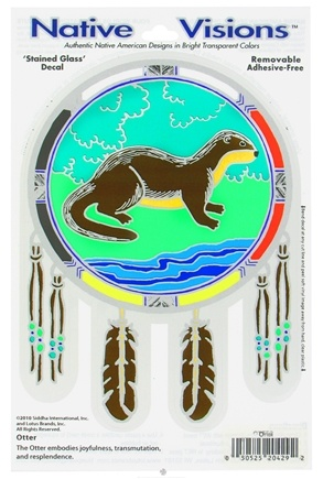 DROPPED: Native Visions - Window Transparencies Otter - CLEARANCE PRICED