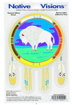 DROPPED: Native Visions - Window Transparencies White Buffalo - CLEARANCE PRICED