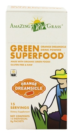 DROPPED: Amazing Grass - Green SuperFood Drink Powder Orange Dreamsicle - 15 Packet(s)