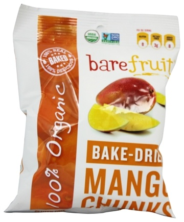 DROPPED: Bare Fruit - 100% Organic Bake-Dried Mangos - 2.2 oz.