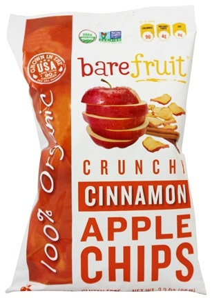Bare Fruit - 100% Organic Bake-Dried Cinnamon Apple Chips - 2.6 oz.
