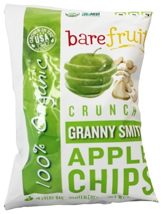 Bare Fruit - 100% Organic Bake-Dried Granny Smith Apple Chips - 2.2 oz.