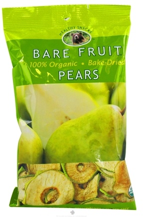 DROPPED: Bare Fruit - 100% Organic Bake-Dried Pears - 2.6 oz.