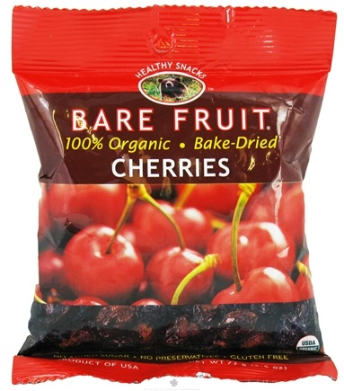 DROPPED: Bare Fruit - 100% Organic Bake-Dried Cherries - 2.2 oz.