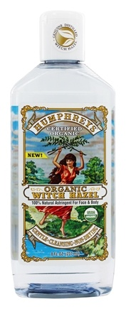 Humphreys - Organic Witch Hazel 100% Natural Astringent For Face & Body - 8 oz.