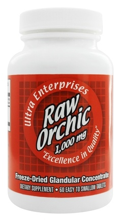 Ultra Enterprises - Raw Orchic 1000 mg. - 60 Tablets