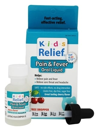 DROPPED: Homeolab USA - Kids Relief Pain & Fever Cherry Flavor - 0.85 oz. CLEARANCE PRICED
