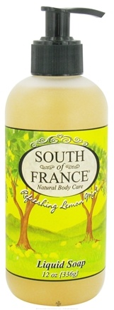 DROPPED: South of France - Liquid Soap Refreshing Lemon Mint - 12 oz.