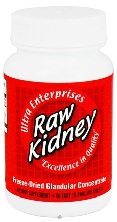 DROPPED: Ultra Enterprises - Raw Kidney 200 mg. - 60 Tablets CLEARANCE PRICED