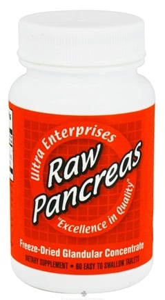 DROPPED: Ultra Enterprises - Raw Pancreas 200 mg. - 60 Tablets CLEARANCE PRICED