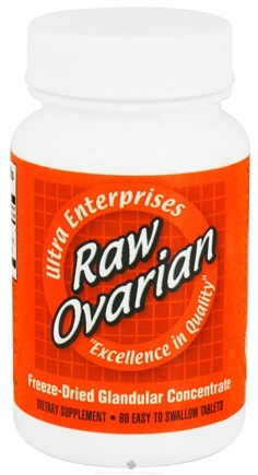 DROPPED: Ultra Enterprises - Raw Ovarian 200 mg. - 60 Tablets CLEARANCE PRICED