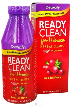 DROPPED: Detoxify Brand - Ready Clean Herbal Cleanse For Women Fortified with Cran Xtract Cran-Tea Flavor - 16 oz. CLEARANCE PRICED