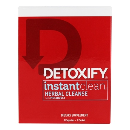 Detoxify Brand - Instant Clean Herbal Cleanse Fortified with Metaboost - 3 Capsules