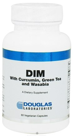 DROPPED: Douglas Laboratories - DIM with Curcumin, Green Tea and Wasabia - 60 Vegetarian Capsules CLEARANCE PRICED