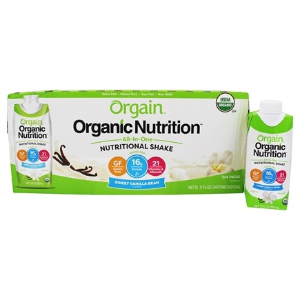 Orgain - Organic Ready To Drink Meal Replacement Sweet Vanilla Bean - 12 Pack