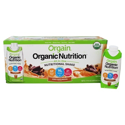 Orgain - Organic Ready To Drink Meal Replacement Iced Cafe Mocha - 12 Pack (formerly Mocha Cappuccino)/LUCKY PRICE
