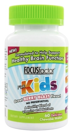 DROPPED: Factor Nutrition Labs - Focus Factor For Kids Berry Flavor - 60 Chewable Wafers
