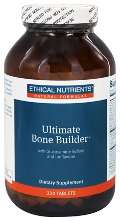 Ethical Nutrients - Ultimate Bone Builder With Glucosamine Sulfate and Ipriflavone - 220 Tablets