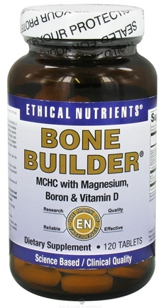 DROPPED: Ethical Nutrients - Bone Builder MCHC With Magnesium Boron & Vitamin D - 120 Tablets CLEARANCE PRICED