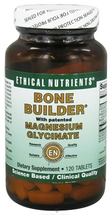 DROPPED: Ethical Nutrients - Bone Builder Magnesium Glycinate - 120 Tablets CLEARANCE PRICED
