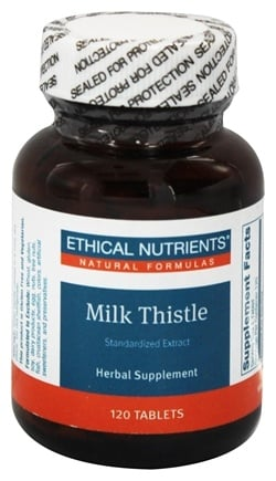 DROPPED: Ethical Nutrients - Milk Thistle - 120 Tablets