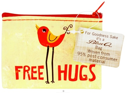 DROPPED: Blue Q - Free Hugs Coin Purse - CLEARANCE PRICED